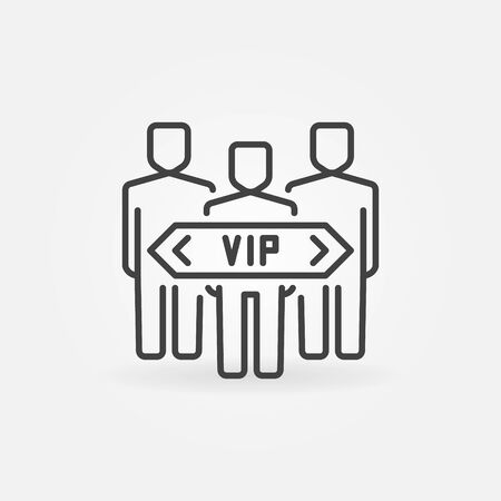 VIP people vector concept icon in thin line style Ilustrace