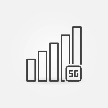 5G Network Signal vector concept icon in thin line style