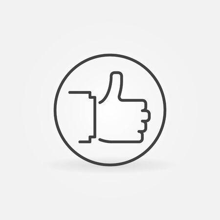 Thumbs up in Circle vector outline concept icon Vektoros illusztráció