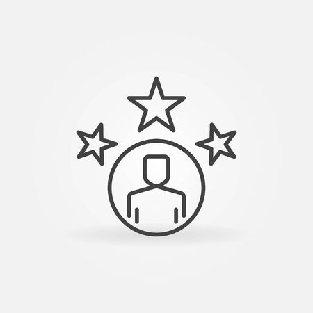 Very Important Person outline icon. Vector VIP linear symbol Reklamní fotografie - 139898041