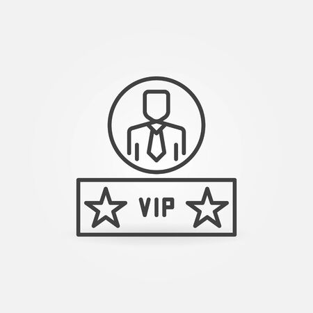 VIP Man vector concept icon in thin line style