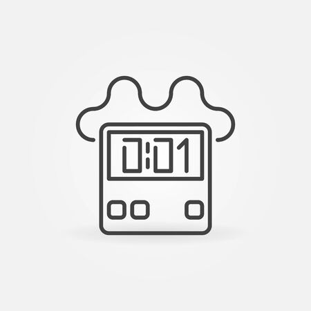 C4 Time Bomb vector concept outline icon or symbol 向量圖像