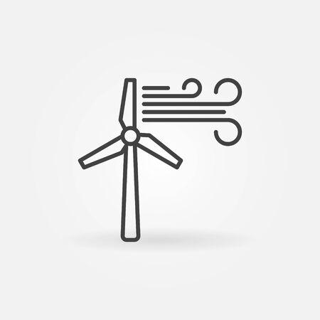 Wind Turbine creative vector icon - wind energy concept outline symbol 矢量图像