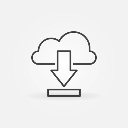 Download from Cloud vector concept icon in thin line style Vectores
