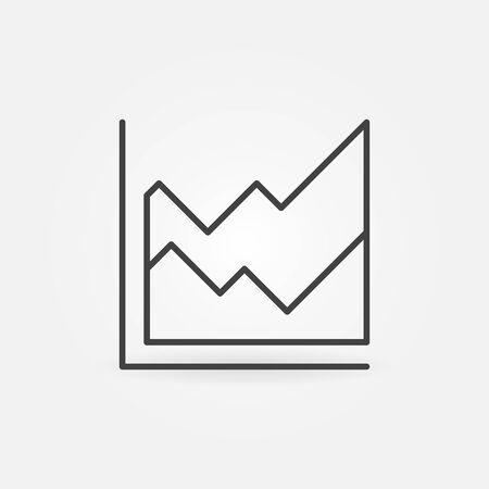 Area Chart vector thin line concept minimal icon or design element