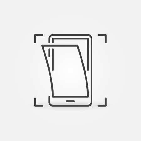 Smartphone Screen Replacement vector concept outline icon