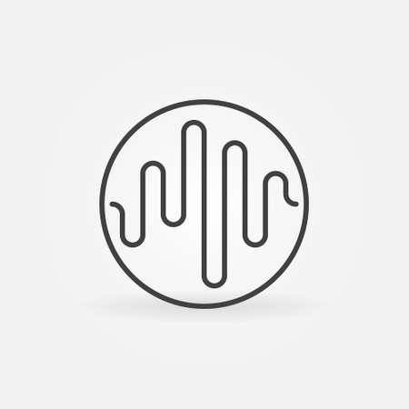Music Sound Wave in Circle linear vector concept icon