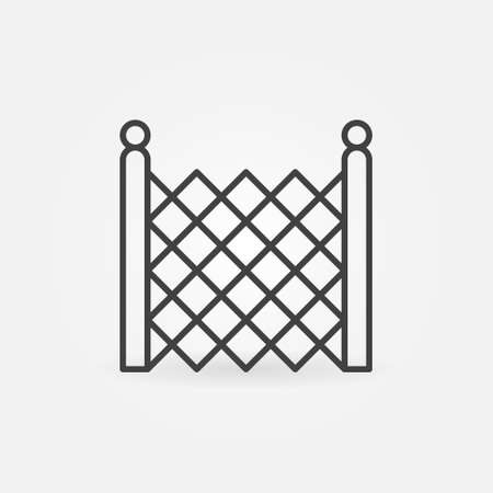 Chain Link Fencing vector concept icon in thin line style