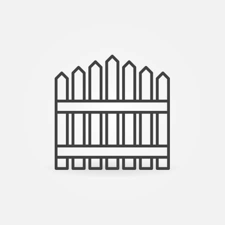 Wooden Fencing vector concept outline icon