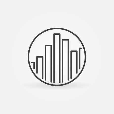 Sound Equalizer in Circle outline vector concept icon