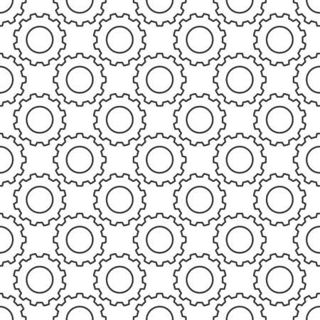 Cog Wheel vector concept outline seamless pattern 向量圖像
