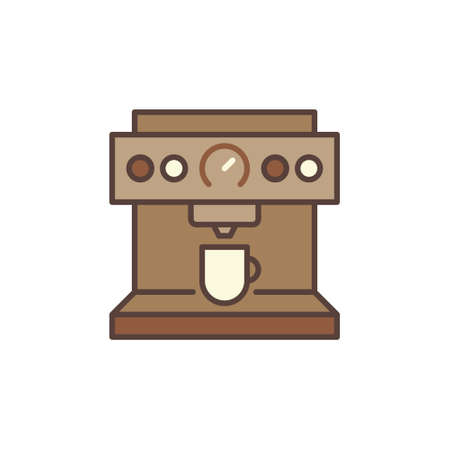 Coffee Machine vector concept brown icon Illusztráció