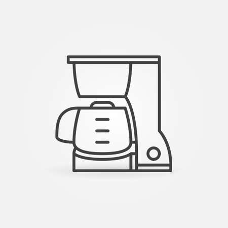 Coffeemaker vector concept icon in outline style