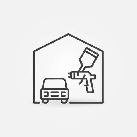 Auto Body Painting vector concept line icon