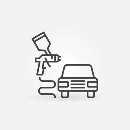 Car Body Painting vector concept minimal line icon