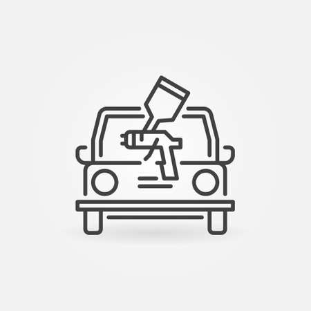 Car Painting outline vector concept simple icon