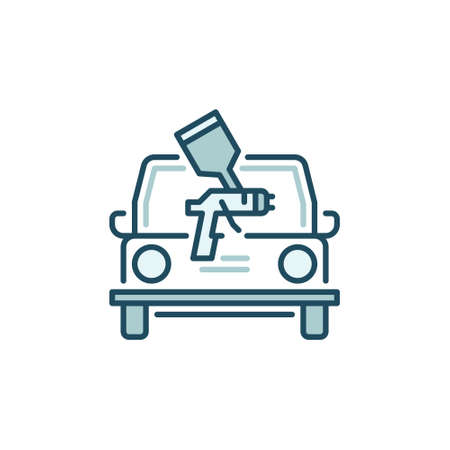 Car Painting vector concept colored icon