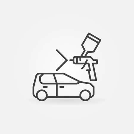 Car Paint outline vector concept icon