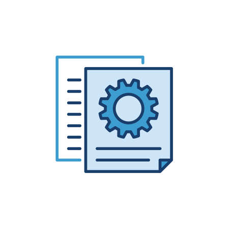 Documents With Gear vector concept creative icon