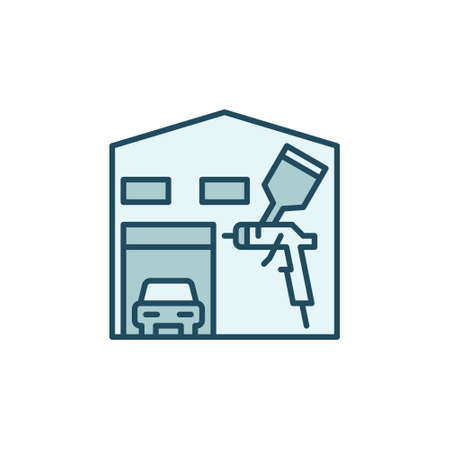 Auto Body Painting Garage vector concept modern icon