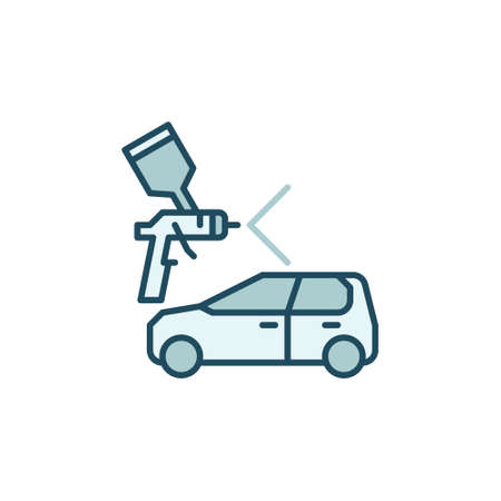 Vector Car Paint concept colored icon