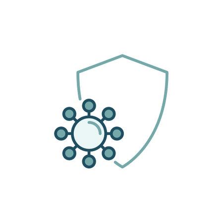 Virus Protection vector concept modern colored icon Vektorové ilustrace