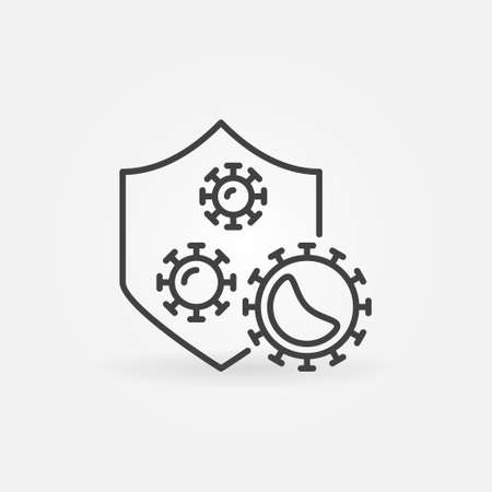 Vector Antibacterial Defence concept icon in thin line style Vetores