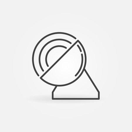 Parabolic Antenna outline icon. Signal vector concept symbol 矢量图像