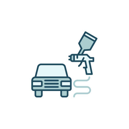 Car or Auto Body Painting vector concept colored icon