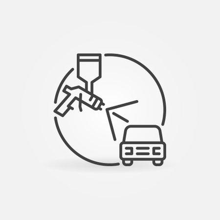 Spray Gun with Auto vector concept linear icon Vecteurs