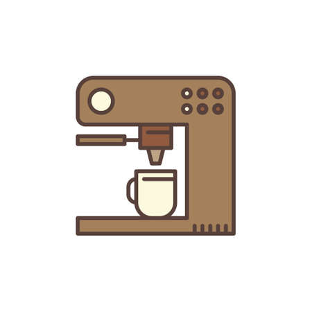Vector Coffeemaker concept brown icon or sign