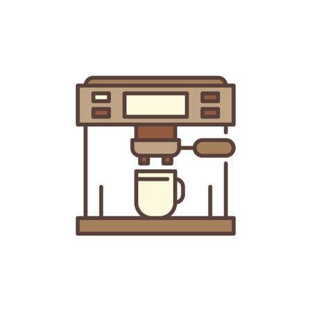 Vector Espresso Machine concept colored icon