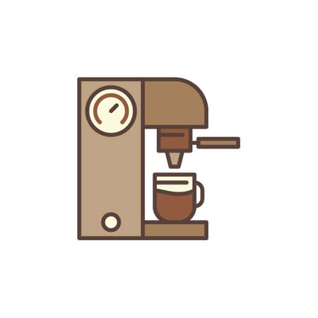 Vector Coffeemaker concept brown icon