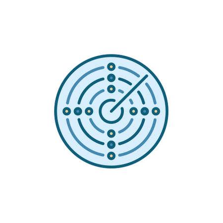 Radar Screen vector concept round colored icon