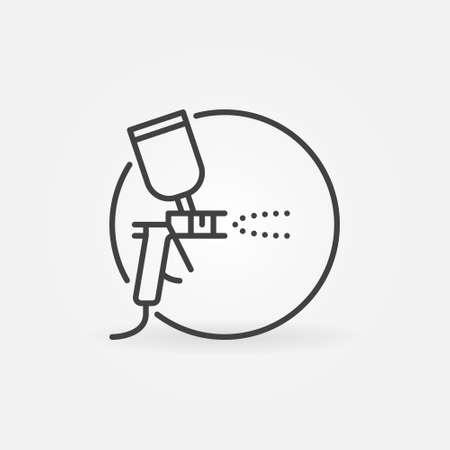 Spray Gun in Circle vector concept icon in line style