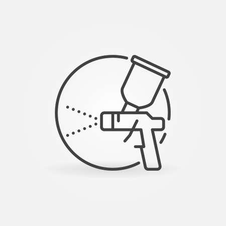 Spray Gun circular concept icon in outline style Vecteurs