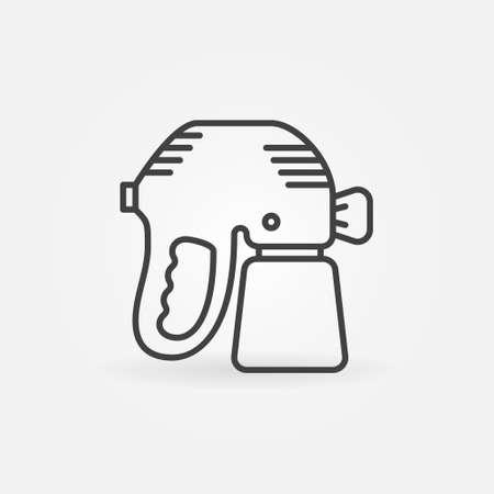 Paint Sprayer or Spray Gun vector concept line icon