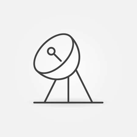 Parabolic Antenna Receiver vector concept linear icon