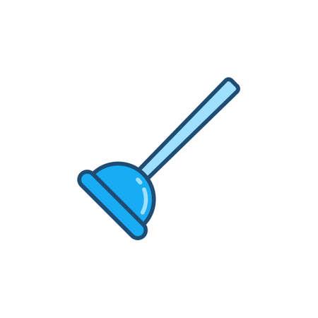 Plunger vector concept blue modern icon or sign Ilustração