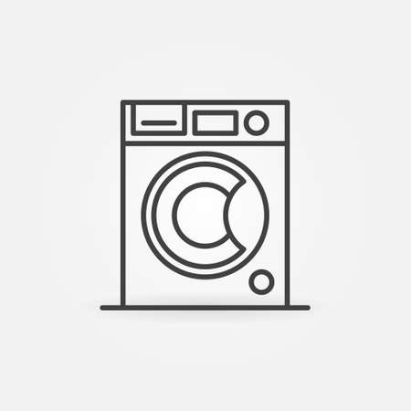 Washing Machine outline vector concept icon or sign Ilustração