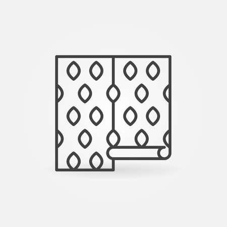 Wallpaper vector thin line concept icon or symbol Ilustração