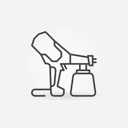Handheld Electric Airless Sprayer outline vector icon