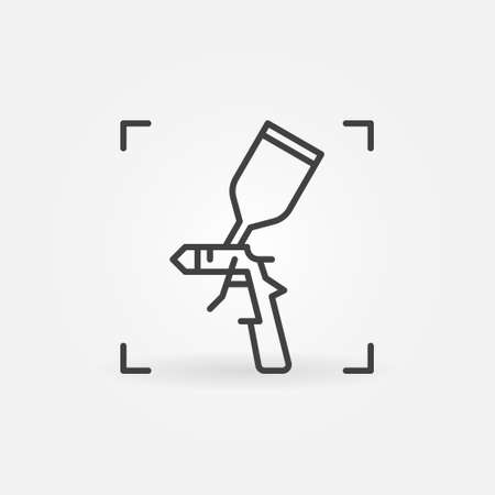 Paint Spray Gun vector concept icon in outline style