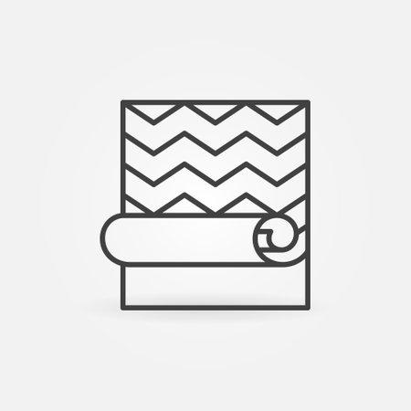 Creative Wallpaper linear vector concept icon or sign