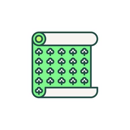 Creative Wallpaper Roll vector concept modern icon Ilustração