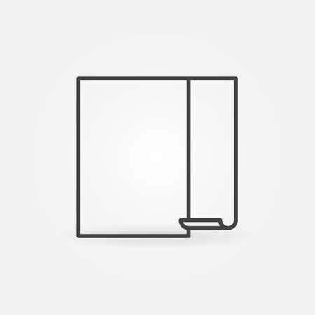 Empty Wallpaper Hanging Process vector linear icon Ilustração