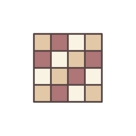 Wall of Floor Empty Tile vector concept colored icon