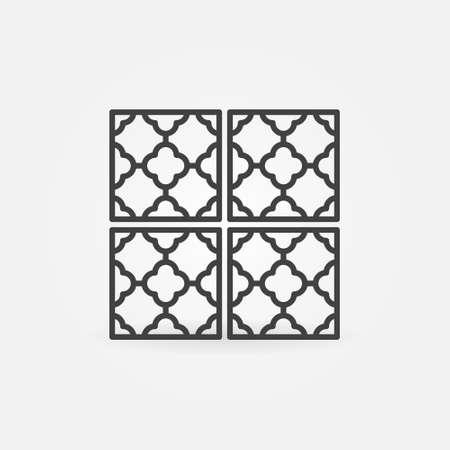 Floor or Wall Tiles outline vector concept icon Ilustração
