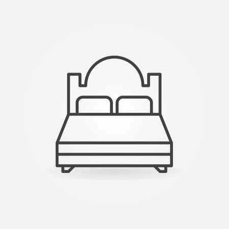 Double Bed vector thin line concept icon