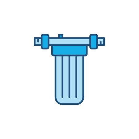 Vector Main Water Filter vector concept blue icon Ilustração